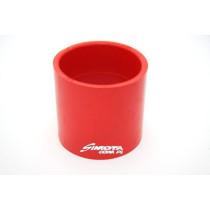 Egyenes szilikon toldó 62mm piros